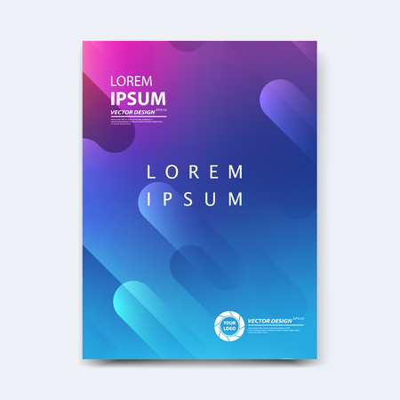 Abstract vector design for cover, poster, banner, flyer, business card, magazine annual report, title page, brochure template layout or booklet .A4 size with geometric shapes on white background. Archivio Fotografico - 104581716