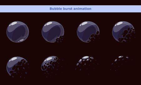 Ramki bąbelkowe z kreskówek do animacji Ilustracje wektorowe