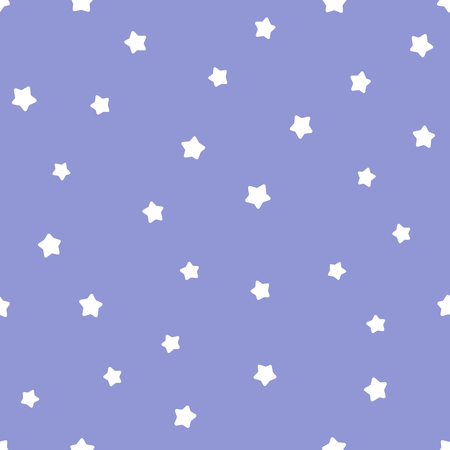 Cute kids illustration of night sky with stars. Seamless Pattern, Cartoon Vector Illustration, Nursery Background for Kid. Archivio Fotografico - 126039336