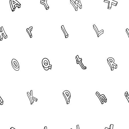 Doodle hand drawn vector cute isolated font