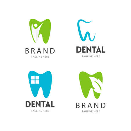 Simple dental logo design concept Logo