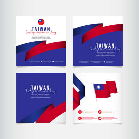Taiwan independence day vector template. Design illustration for banner; advertising; greeting cards or print. Design happiness celebration.