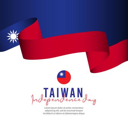 Taiwan independence day vector template. Design illustration for banner, advertising, greeting cards or print. Design happiness celebration.; Ilustração