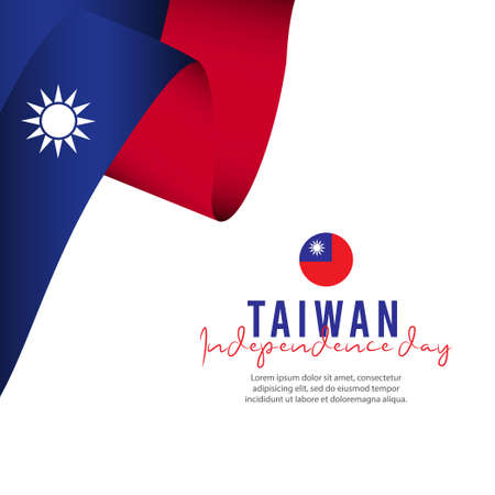 Taiwan independence day vector template. Design illustration for banner, advertising, greeting cards or print. Design happiness celebration.;