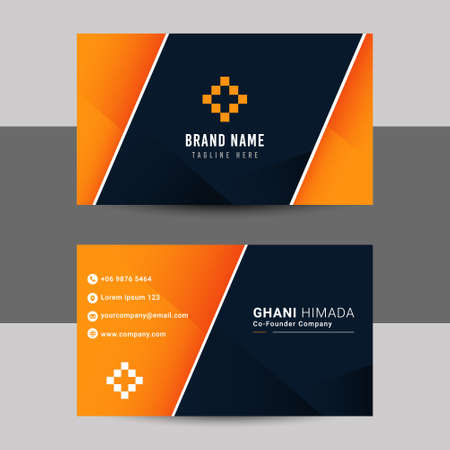 Name card front and back design template. 向量圖像