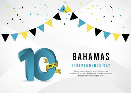 Bahamas independence day vector template.