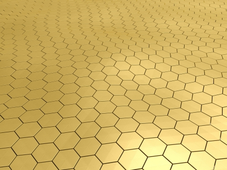3D gold honeycomb pattern background photo