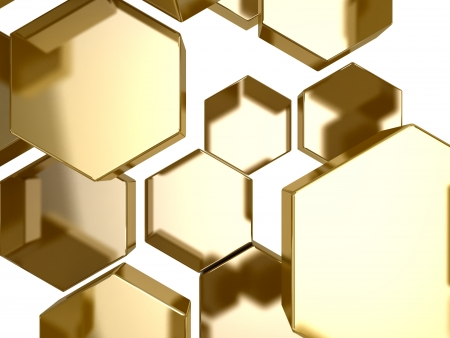 surface:  3D gold honeycomb pattern background