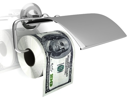 Expensive toilet paper photo
