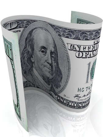 S-shape 100 dollar banknote  Dollar symbol  photo
