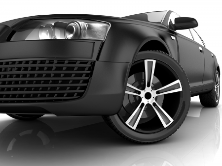 My own Car design background  3D render  photo