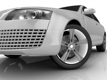 My own Car design background  3D render  Stock Photo