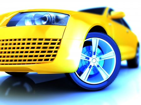 My own Car design background  3D render Stock Photo - 18327196