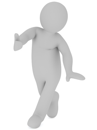 3D man with thumb Stock Photo - 18326780