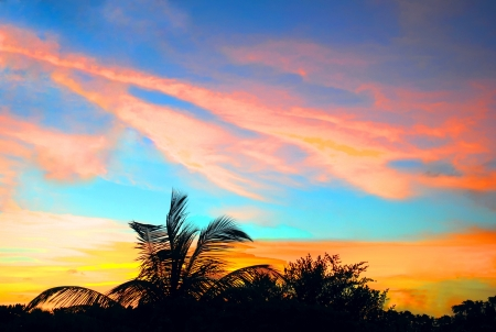Sunset in Maldives Island Stock Photo - 18327246