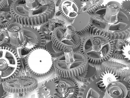 3d gears  Work concept
