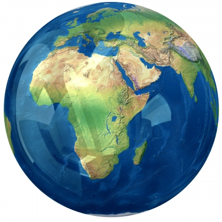 map of africa: Glass globe