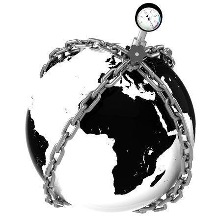 default: Glass globe with chains and manometer  European pressure  Crisis  Default.