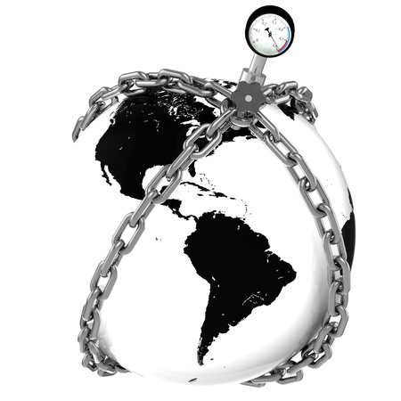 manometer: Glass globe with chains and manometer  American pressure  Crisis  Default   Elements of this image furnished