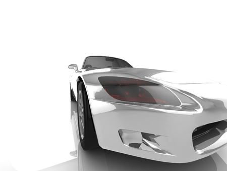 My own Car design background  3D render  Stock Photo - 18360254