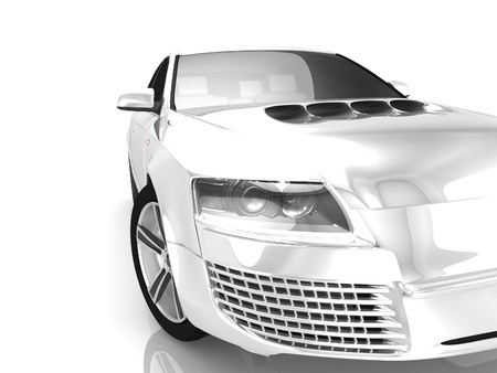 My own Car design background  3D render Stock Photo - 18360445