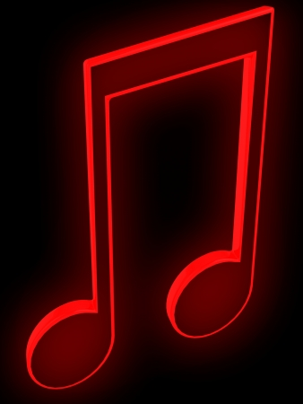 3D music tune  Isolated render  Music symbol  photo