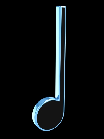 3D music tune  Isolated render  Music symbol