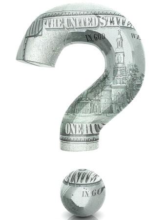 3D Dollar question Stock Photo - 18337758
