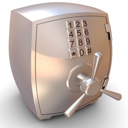 Security metal safe Stock Photo - 18337450