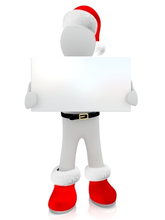 3D Santa Claus puppet on white background  photo