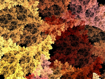 Fractal Illustration background. Abstract graphic. Rendered image. Stock Illustration - 18361684