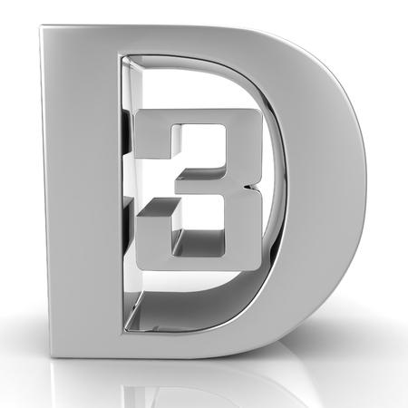 3D symbol text background. 3D concept render. photo