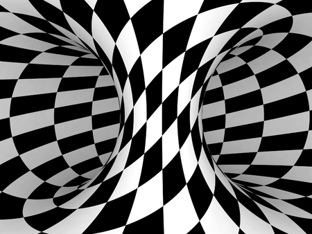 Black and White Checkers Projection on 3D Torus.