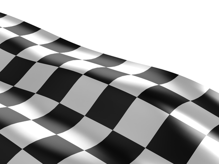 Checkered flag texture. Abstract design. 3D render.