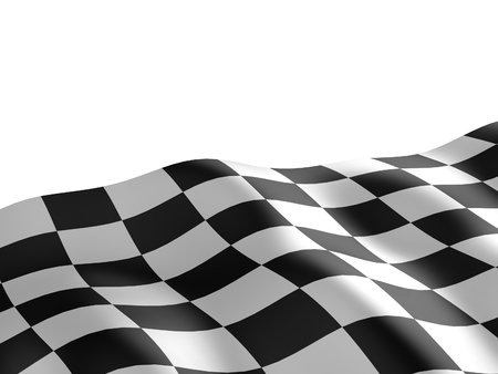 checker flag: Checkered flag texture. Abstract design. 3D render.
