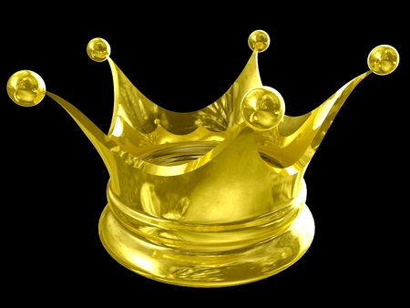luxuriance: 3D Golden crown background. 3D isolated render.