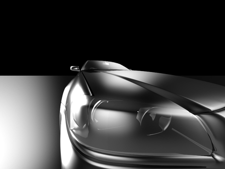 Car design background. 3D render. Isolated image. photo