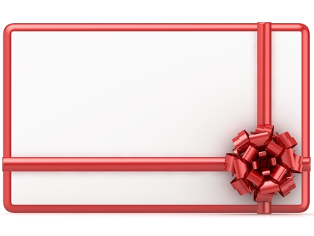 Gift Card isolated on white background. 3D render.