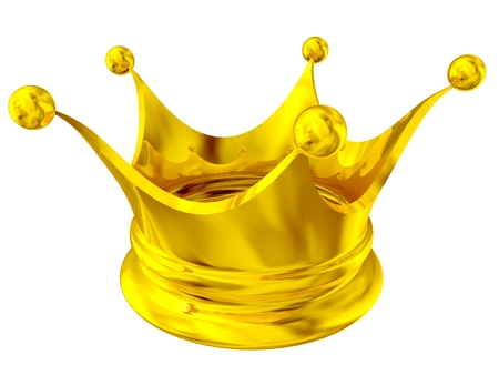 3D Golden crown background. 3D isolated render.