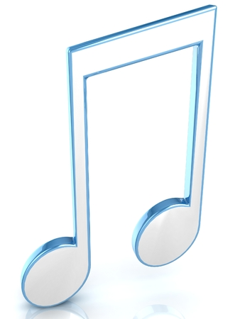 3D music tune. Isolated render. Music symbol.