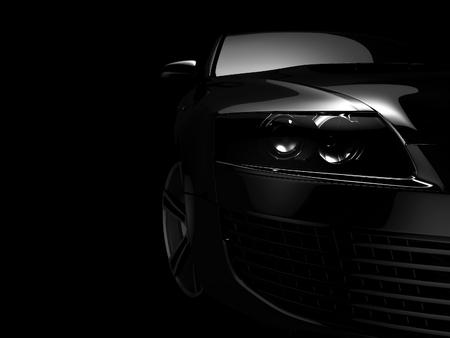 My own Car design background. 3D render. photo
