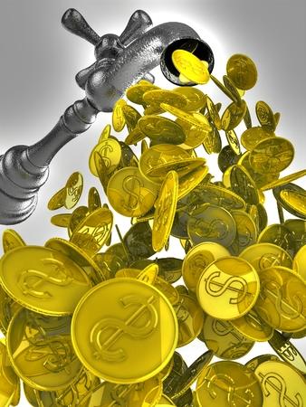 Cash Flow: Money fl Money flow from metal tap ow from metal tap