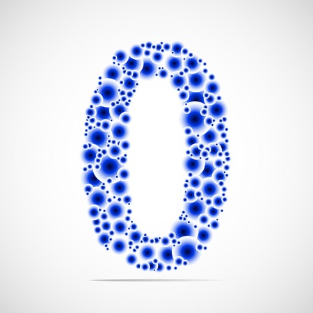 trigram: Vector number zero made from balls. Illustration