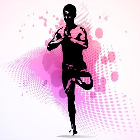tae: Deportes. Vector karate ilustraci�n.