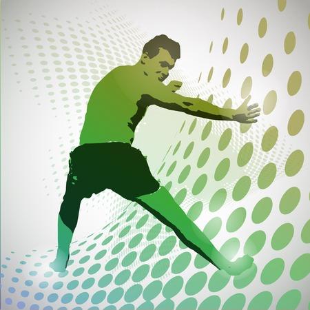 kwon: Sports. Vector karate illustration. Illustration