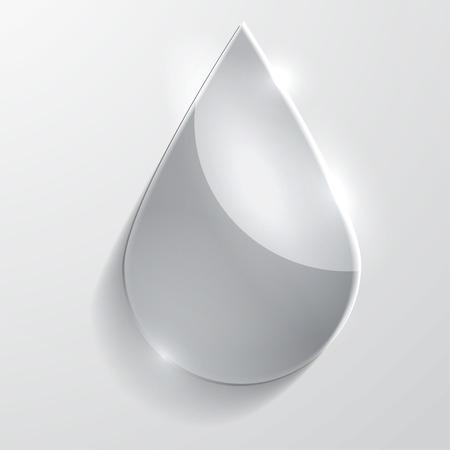 shinny: Water drop glass icon illustration. Illustration