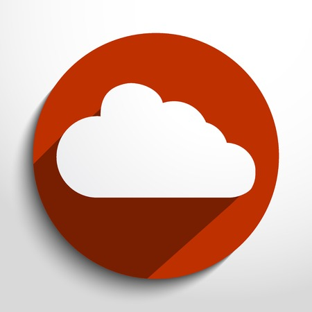 synchronization: Cloud glass icon illustration.