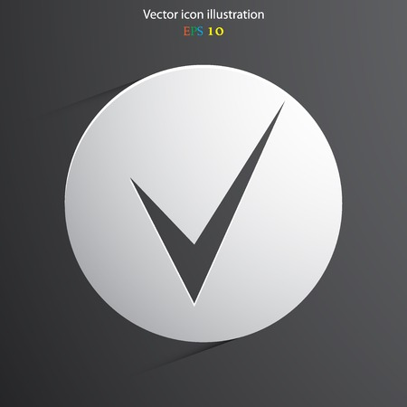 yea: Vector check web flat icon in circle