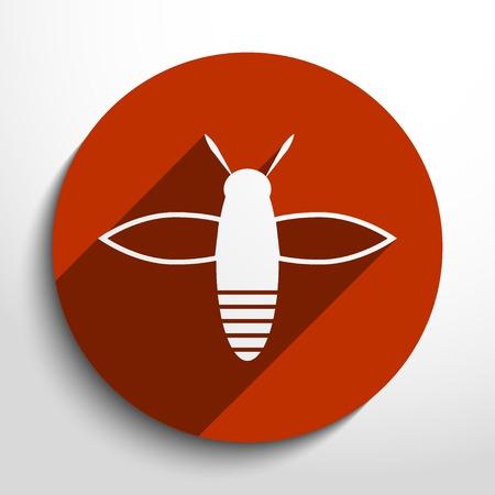 praiseworthy: bee web flat icon in circle