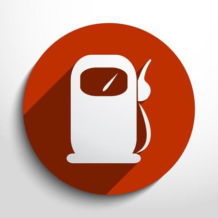 fuel station web flat icon in circle